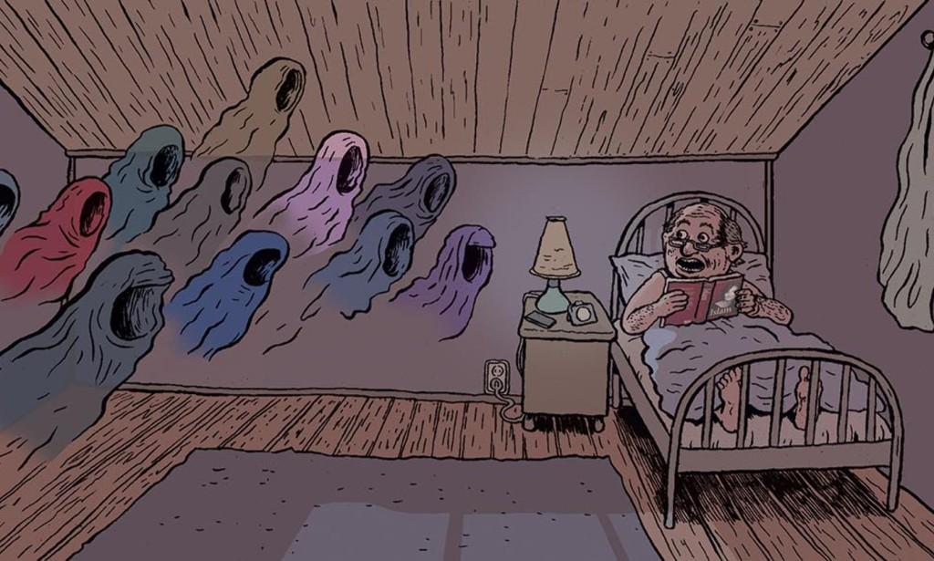 Tegning: Flu Harberg.